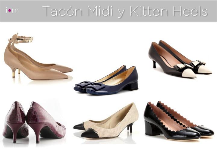 Zapatos Tacón Midi y Kitten Heels