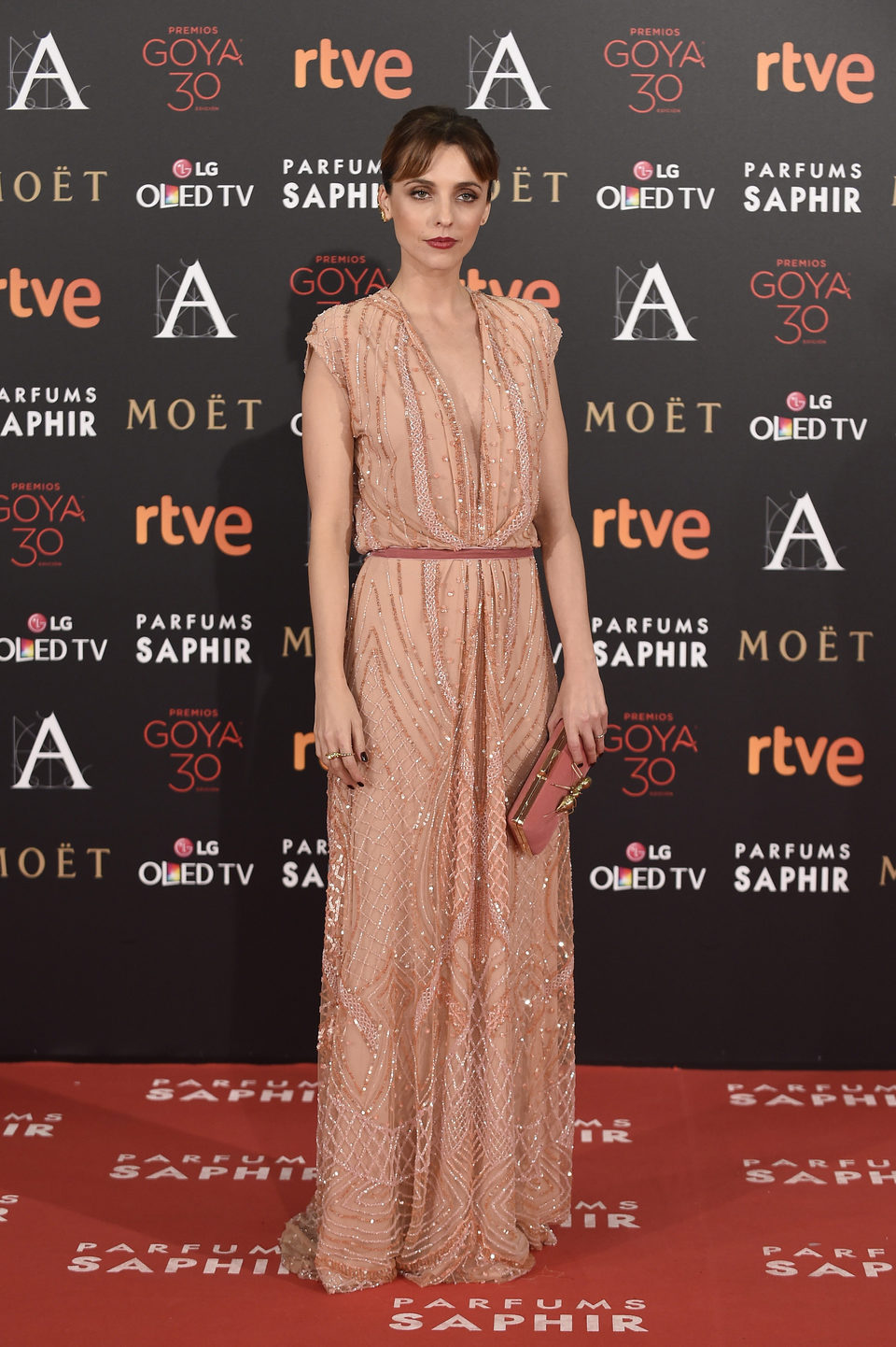 leticia dolera alfombra roja gala goya 2016
